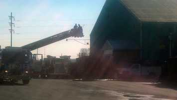 The plant manager at Seaboard said a contractor was working in a manufacturing area about 10:30 a.m. Thursday when a torch caused sparks.
