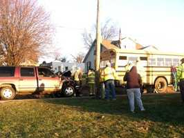 The crash happened about 7 a.m. along Mount Pisgah Road.