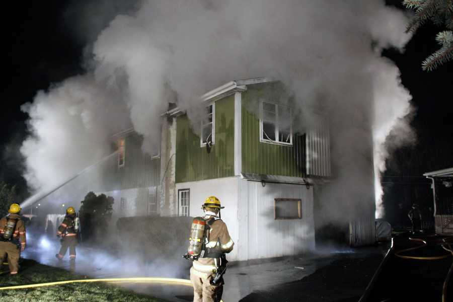 Fire damaged a woodshop late Thursday night in Upper Leacock Township, Lancaster County.