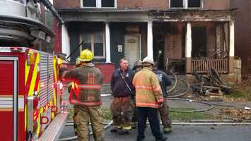 A Monday fire displaced six people in Harrisburg.