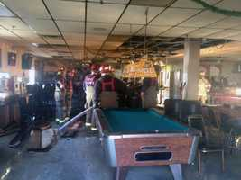 The club suffered smoke damage and may be closed for several weeks.