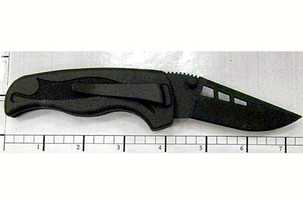 "This knife is non-metallic. It was found during a passenger pat-down after a body scanner detected something at Salt Lake City. The TSA blog says, ""The passenger stated he was trying to get the knife through security and was arrested on a federal charge."""