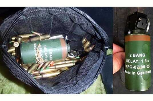 "However, not all devices are inert. This is a live flash bang grenade. It was found in checked luggage at Northwest Florida Regional Airport in late Nov. 2012. On the TSA blog, it states, ""Along with the grenade were 20 rounds of improperly packaged 7.62mm ammunition. After a 42-minute evacuation, checked baggage operations resumed."""