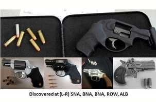 Here's a look at some more firearms discovered in carry-on bags that same week.