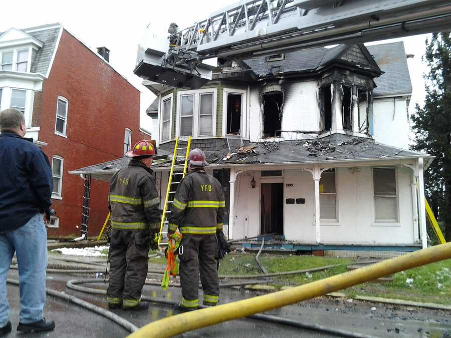 Twelve people, including six children, were displaced Friday morning in a York fire at Locust and Sheridan streets.