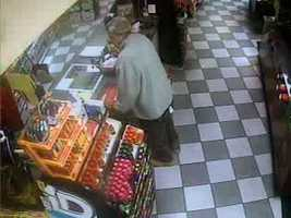 West Manchester Township police released these surveillance photos of a man who is accused of taking a charity donation jar.