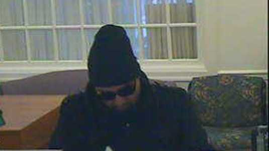 State police in Chambersburg are searching for the man who robbed a bank Thursday afternoon.