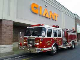 A small fire broke out in a Giant Food store along Route 743 in Derry Township Friday morning.