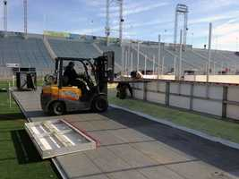 By Monday, all the seating was complete and the cooling lines were installed.