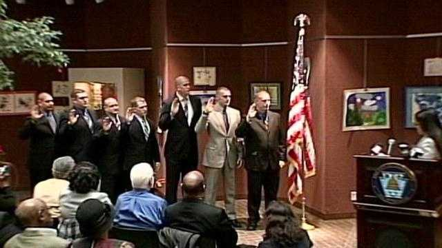 Harrisburg swears in new police officers