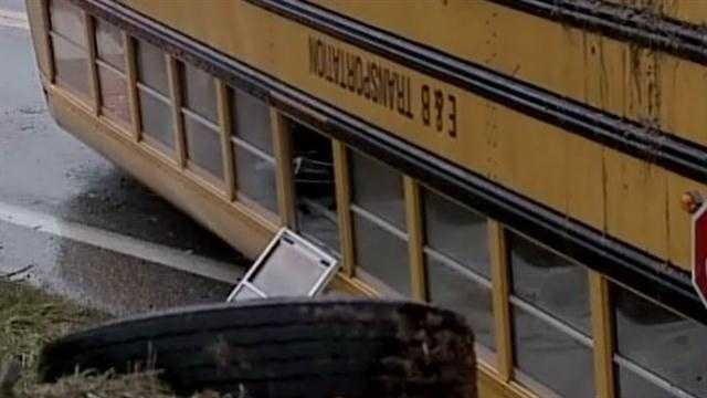 The bus was carrying middle school and high school students from the Bermudian Springs School District. Ten students were hurt and taken to various hospitals. None of the injuries were described as serious. Officials at the scene said the worst injury suffered was a cut to the head.
