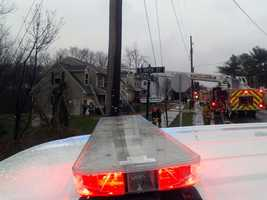 The fire happened at a home along the 900 block of Ironville Pike around 10:45 a.m. No one was home at the time.