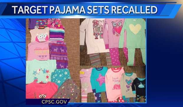 Target is recalling about 560,000 two-piece pajama sets sold online and in stores between August and November of last year.