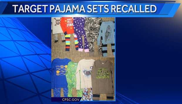 The pajama sets fail to meet federal flammability standards for children's sleep wear.