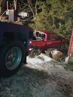 The truck crashed into a home in the 1600 block of Turnpike Road about 9 p.m. Monday.