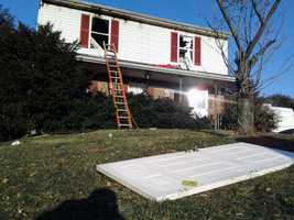 Four people escaped a fire Wednesday morning on Dove Circle near Hanover, York County.
