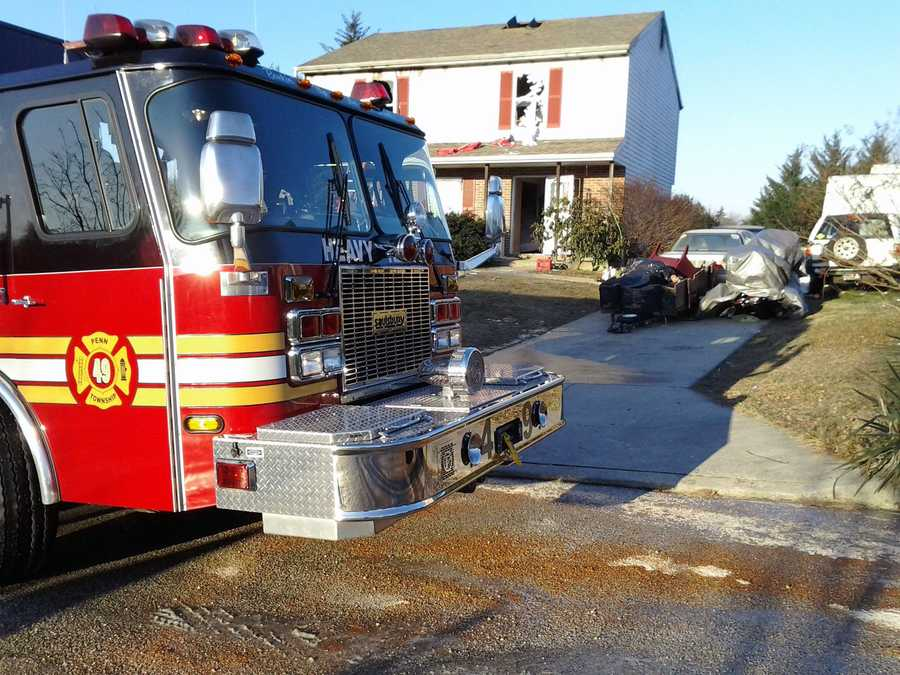 The fire broke out about 6:30 a.m. in the Penn Township home.Bradburn blames an electric space heater for the fire.