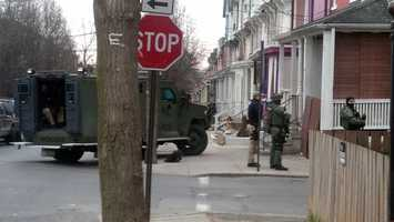 Lancaster police served a search warrant Friday morning, Jan. 25, in the 500 block of Pershing Avenue as part of a drug case.