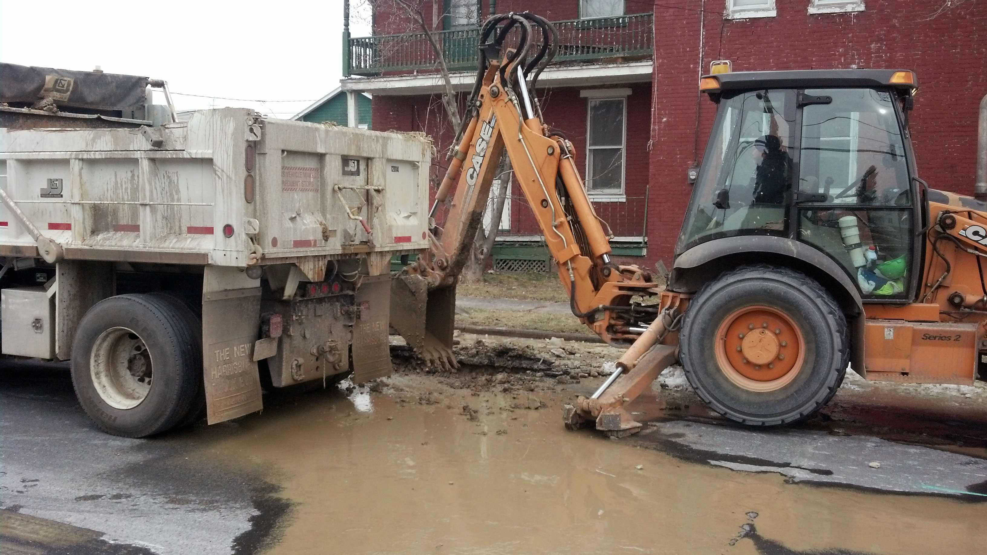 1.25 New Cumberland water main break