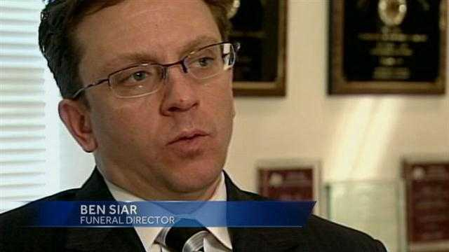 """News 8 spoke to funeral director Ben Siar in early February, before he was charged, and he said: """"It is painful. It is extremely painful to be where I am at now. So shamed? Maybe. Yes. Hindsight I definitely would have done something different, but nothing was malicious, nothing intentional."""""""