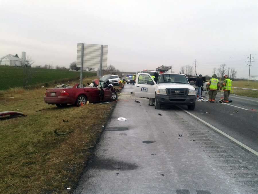 Two crashes claimed one life and caused a traffic mess Thursday on Route 222 in Lancaster County.