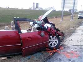 Victor Stimmell, 36, of Lititz was driving south and crossed into the northbound lanes and struck the pickup, driven by Leverne Smith, 61, of Reading, head-on, police said.