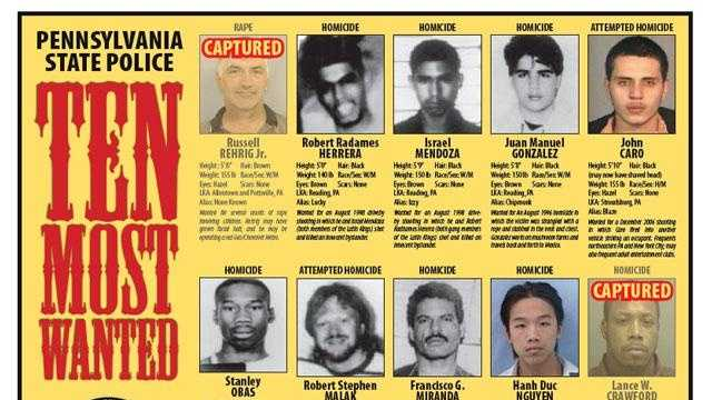 Pa. most wanted poster