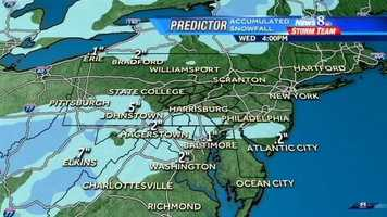 This and the following graphics show accumulation projections.
