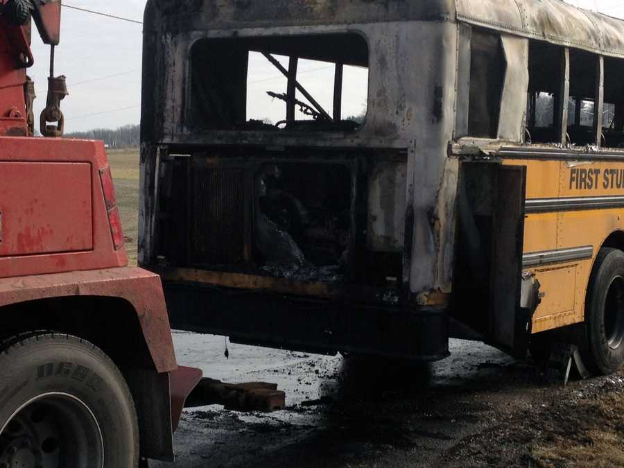 The bus driver got them off after he smelled smoke.