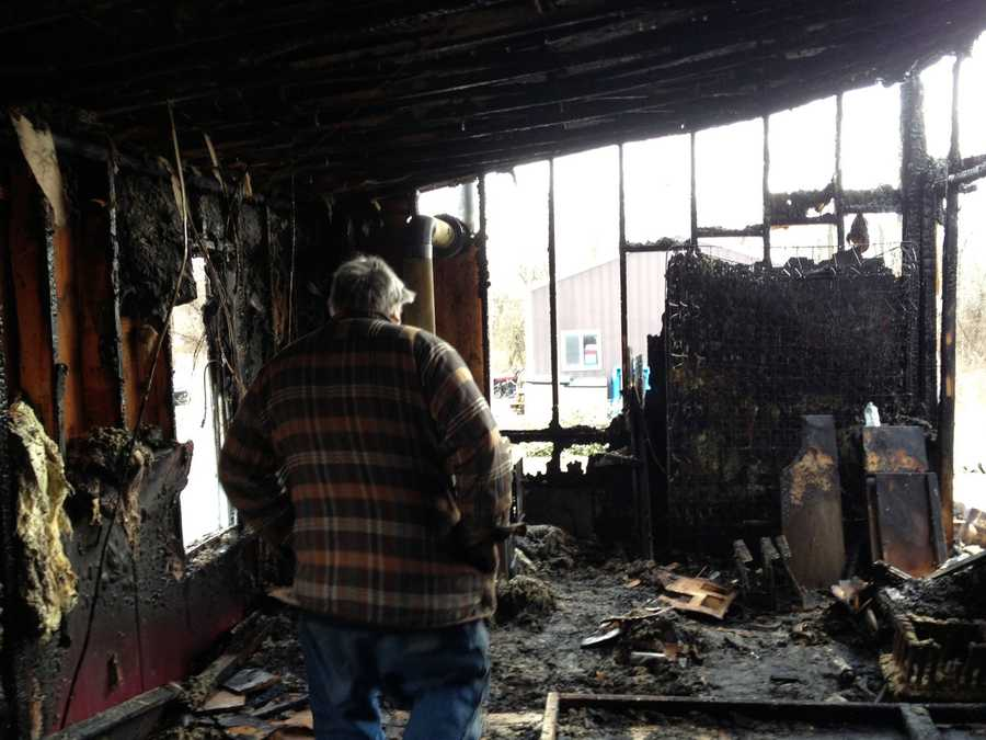 Three adults and eight children were displaced in a Butler Township, Adams County, fire early Wednesday.