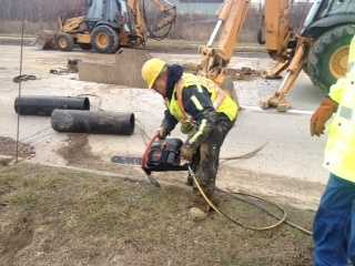 The break affects an eight foot section of pipe, which will need to be replaced.
