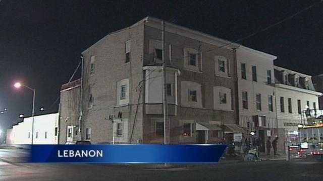 Nineteen people were displaced following a Lebanon apartment building fire Thursday night.