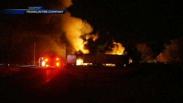 A state police fire marshal is investigating a barn fire in Hamilton Township, Franklin County.