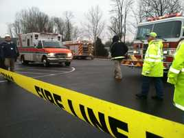 Crews were welding steel when the structure collapsed.
