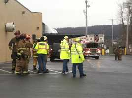 Three workers were hurt. All are expected to survive.