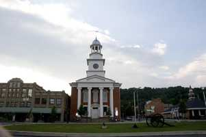 The biggest town in Mifflin County is Lewistown, which has 8,369 residents.