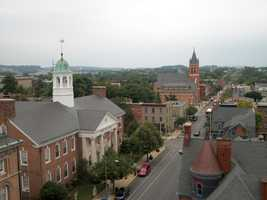 The biggest city in York County is York City with 43,884 residents.