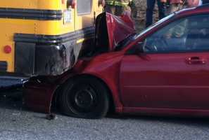 The crash happened in East Earl Township on Route 23 at Valley View Drive. The bus was coming from Blue Ball Elementary School.