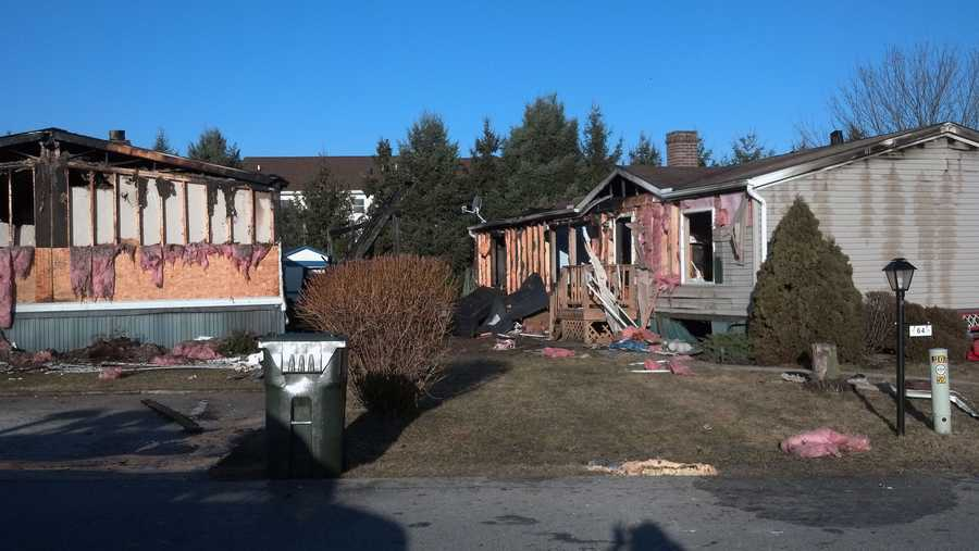 No one was injured in a fire early Tuesday near Shippensburg that destroyed two modular homes.