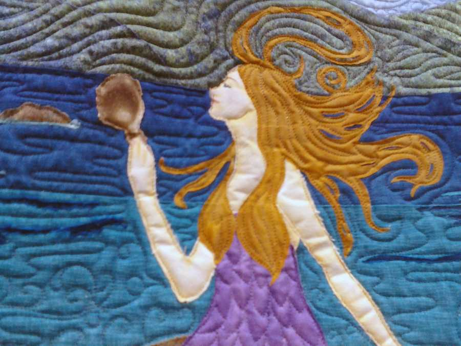 About 15,000 people are expected to visit the American Quilters Society show, which is being held at the Lancaster County Convention Center.