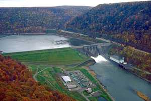 There is another dam, the Kinzua Dam, in Warren County. The dam creates the Allegheny Reservoir.