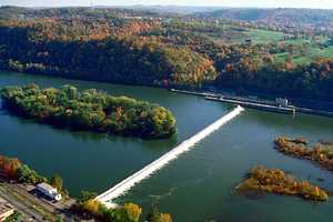 There are portions of the river where the flow is interrupted by dams, such as the C.W. Bill Young Lock and Dam in Allegheny County.