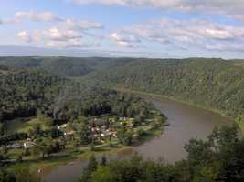 """These 87 miles of the Allegheny flows through areas of narrow forest valleys, wilderness islands, and broad, rural landscapes rich with the early history and culture of the region. Pastoral farmlands, small towns and the narrow winding valleys provide a diversity of views for those travelling the river. Good public access and few hazards make this an ideal river for novice and family canoeing. Fishing for muskie, walleye, rainbow trout and smallmouth bass is popular,"" states the National Wild and Scenic River System website. Now, on to the next river..."
