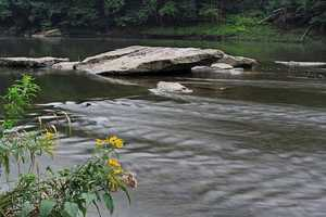 2. The Clarion River. The Clarion flows in northwestern Pennsylvania. It is actually a tributary of the Allegheny. This photo shows a portion of the river that runs through Cook Forest Park.