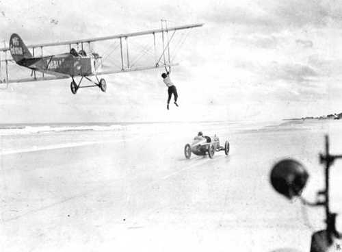 Some who bought the planes looked to turn them into moneymakers. One way of doing this was barnstorming, which was also sometimes referred to as a flying circus.