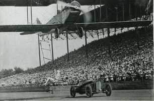 Some of these regulations started to establish rules about low-level flight and where it was permitted. This photo shows a barnstorming show with a plane very close to grandstands full of thousands of people.