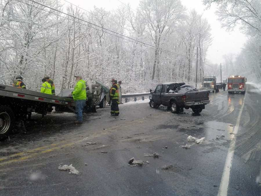 Two vehicles were involved in a crash Monday morning on Route 272 in Providence Township, Lancaster County.