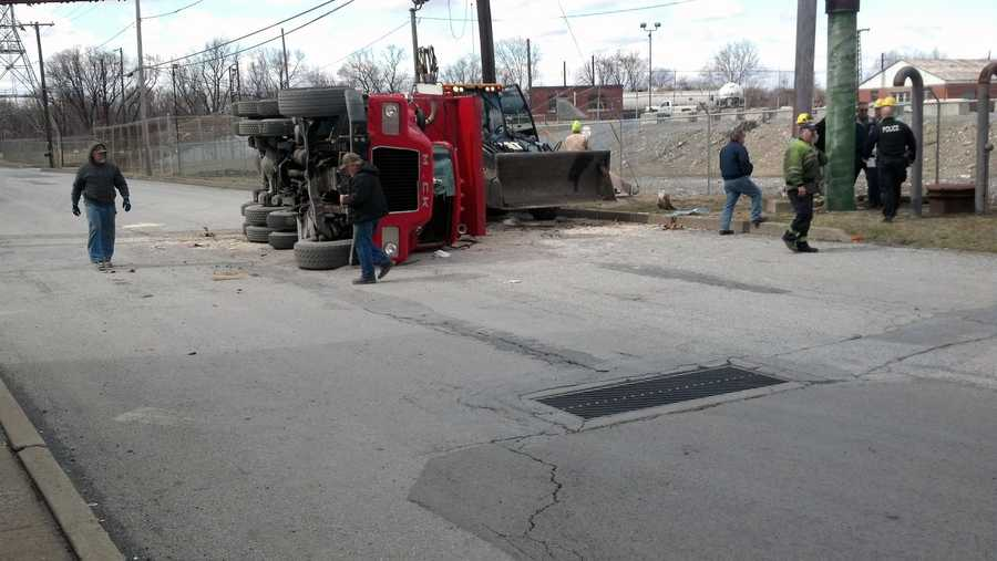 A dump truck driver was taken to a hospital Wednesday morning after a crash in the 200 block of Franklin Street in Steelton, Dauphin County.
