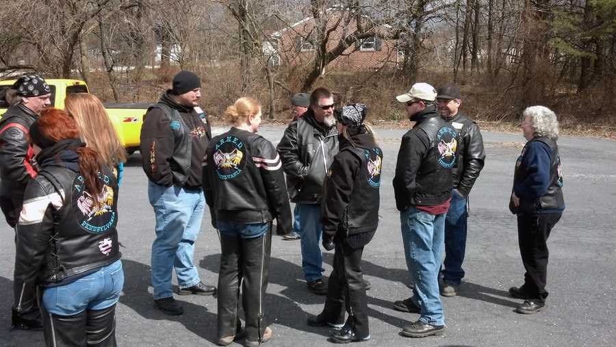 The motorcycle group ARMED (Armed Riders Mentoring, Educating, Defending) headed to Safe Harbour homeless shelter in Carlisle Thursday.