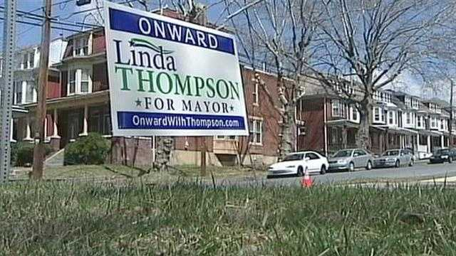 4.4 Thompson campaign signs